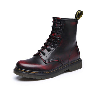 HAJINK - Women Genuine Leather Motorcycle Boots - aleathershop