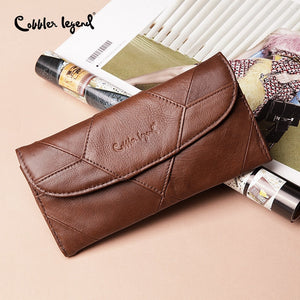 COBLER LEGEND - Diamond Path Leather Wallet | Birthday Gift For Women - aleathershop