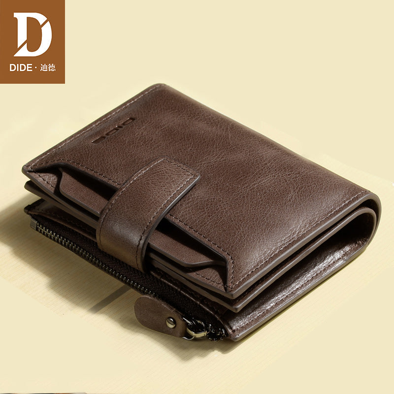 DIDE - Genuine Leather Men's Vintage Wallet - aleathershop
