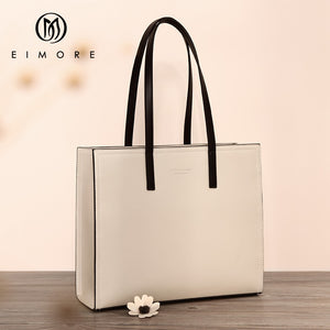 EIMORE - Large Capacity Genuine Leather Tote Bag - aleathershop