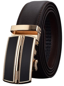 WOWTIGER - Men's Automatic Buckle Genuine Leather Belt - High Quality - aleathershop