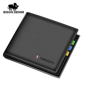 BISON DENIM New Cow Leather Wallet - aleathershop