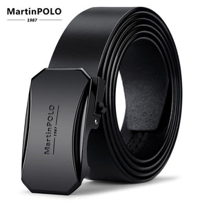 MartinPOLO Men Belt Genuine Leather Automatic Buckle - aleathershop