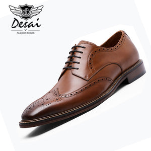 DESAI - New Arrivals Men Business Dress Shoes - Genuine Leather - aleathershop