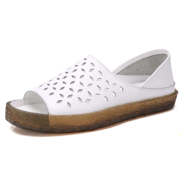 PEIPAH - Genuine Leather Summer Women Sandals - aleathershop