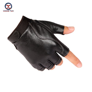 CHING YUN - 2019 Man High Quality Leather Finger-less Gloves - aleathershop