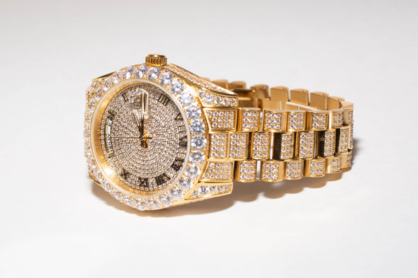 14K Baron Custom Iced Out Luxury Watch