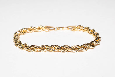 14K Plated Rope Bracelet Premium Quality