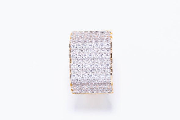 14K MEN'S Elevated Square Ring