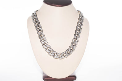 14K AAA Miami Cuban Link Prong Set Necklace