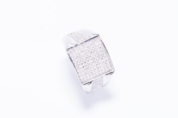 14K MEN'S Square Platform Ring