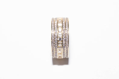 14K MEN'S Eternity Baguette Ring