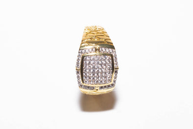 14K MEN'S ICED OUT Nugget Ring
