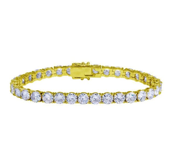 Iced Out Tennis Bracelet | Yellow Gold Tennis Bracelet | White Gold Tennis Bracelet