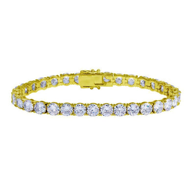Iced Out Tennis Bracelet | White Gold Tennis Bracelet| Yellow Gold Tennis Bracelet