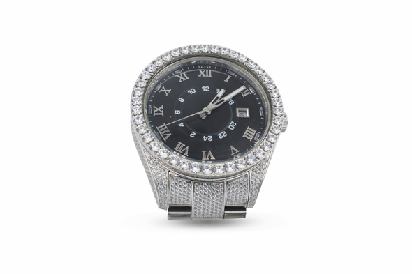 14k White Gold Premium Stainless Steel Watch