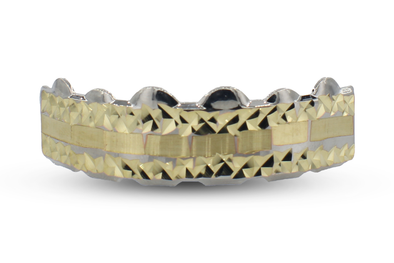 Dimond Cut Gold Grillz
