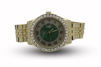 Green Dial Face 14 CZ Japanese Watch