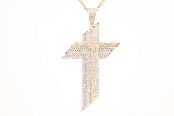 Iced Out Diamond Cross Pendent