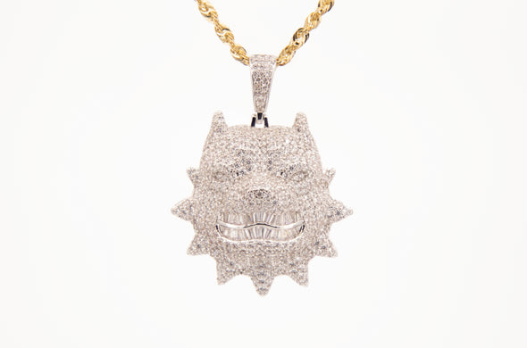 Iced Out Custom Monster Pendant | Baguette Pendant