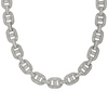 Premium Baguette Iced Out Link Chain  | White Gold