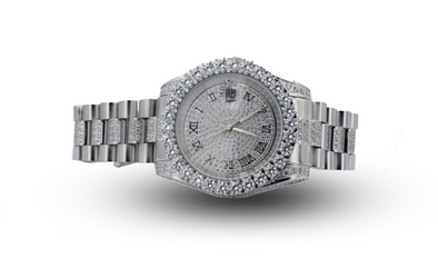 14K Premium Diamond Watch | White Gold