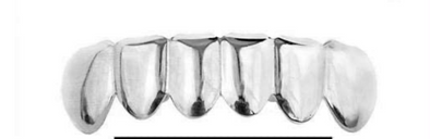 14k Solid White Gold Grillz