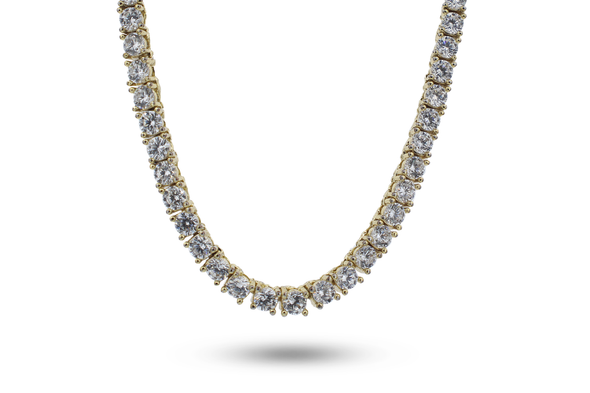 14K Lab Diamond Tennis Chain| Yellow Gold | White Gold