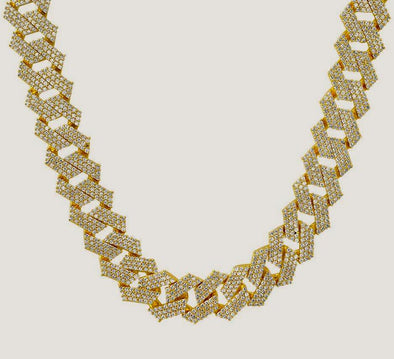 14K Iced Out Cuban Link Chain | 20MM Cuban