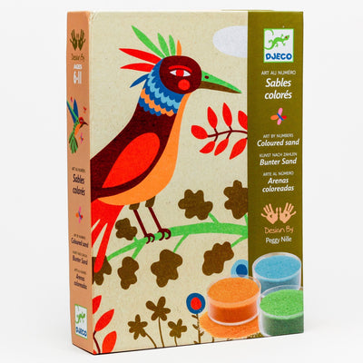 'Birds of Paradise' Colored Sand Art by Numbers Kit