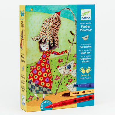'With Flowers' Felt Brush Art by Numbers Kit