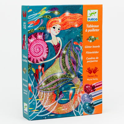 'Mermaid Lights' Glitter Board Art by Numbers Kit