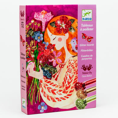 'The Scent of Flowers' Glitter Board Art by Numbers Kit