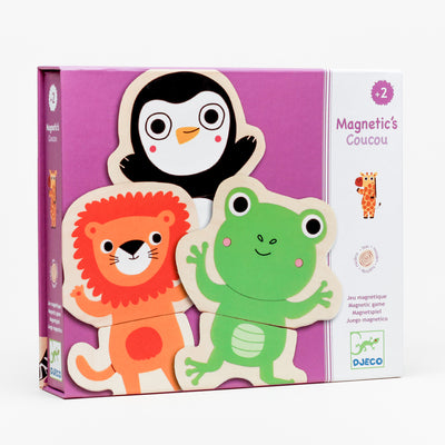 Cou Cou Jungle Animals Wooden Magnet Set