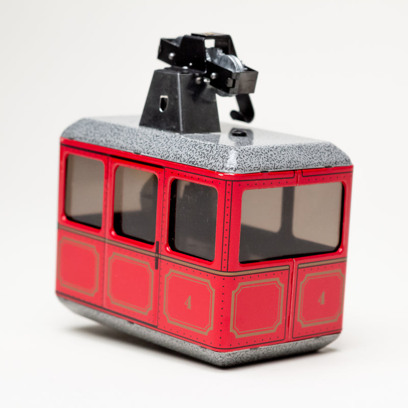 Aerial Wind-Up Tin Cableway (Red)
