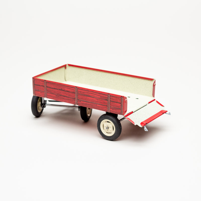 Tin Tractor Tow Trailer (Red)
