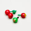 Mini 5-In-1 Fruit Spinning Tops Set (Apple, Cherry, Pear)
