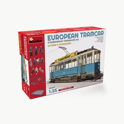European Tramcar (Straßenbahn Triebwagen 641) W/Crew & Passengers Model Assembly Kit