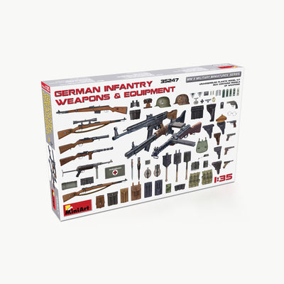 German Infantry Weapons & Equipment WWII Model Accessory Kit