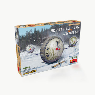 Soviet Ball Tank W/Winter Ski Interior Model Assembly Kit