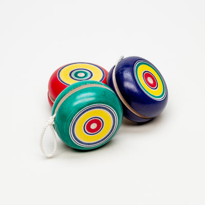 Multi-Colored Wooden Yo-Yo