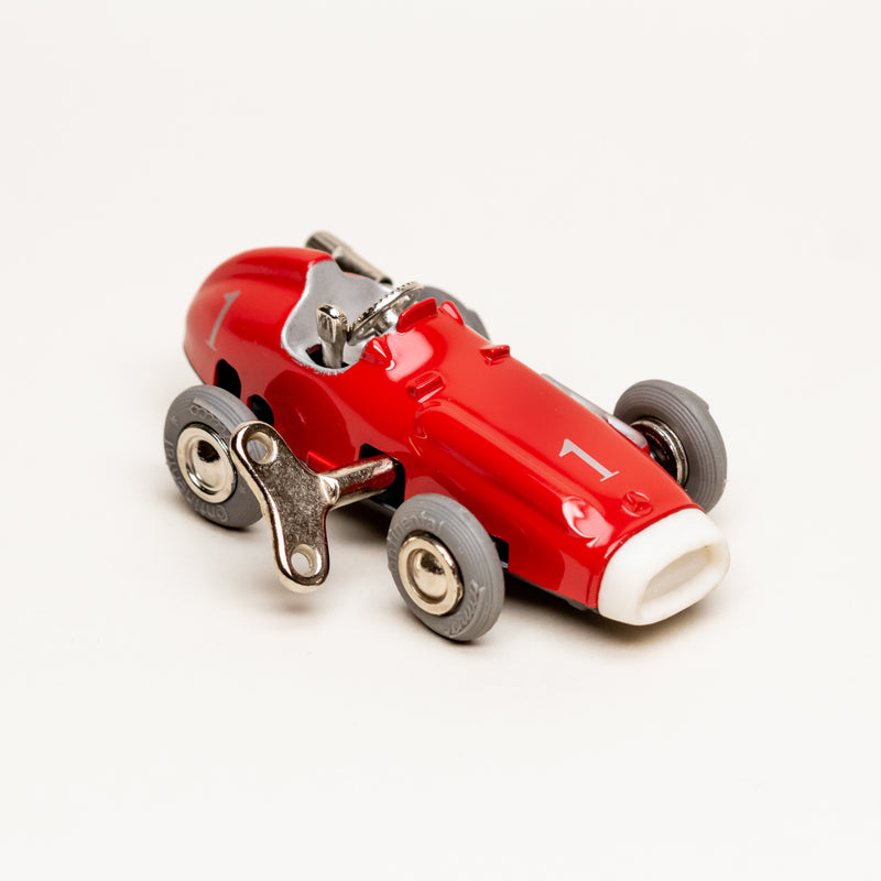 Vintage Diecast Mercedes Benz #1043 Wind-Up Micro Racer (Red)