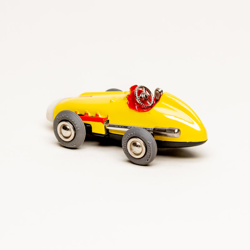 Vintage Diecast Mercedes Benz #1043 Wind-Up Micro Racer (Yellow)