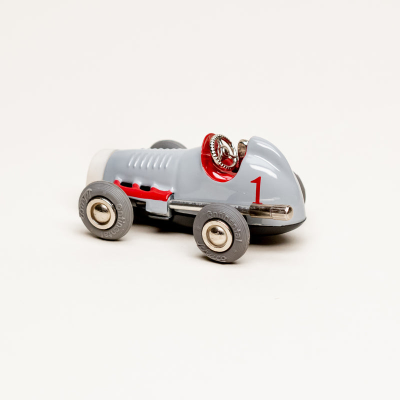 Vintage Diecast Midget USA #1042 Wind-Up Micro Racer (Gray)