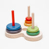 Ring Tower Problem Solving Game (Tower of Hanoi)