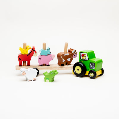 Tractor & Trailer With Animals Stacking Game
