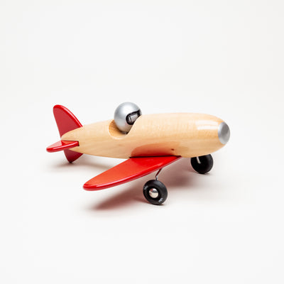 Aerobatic Natural Wood Plane (Red)