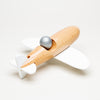 Aerobatic Natural Wood Plane (White)