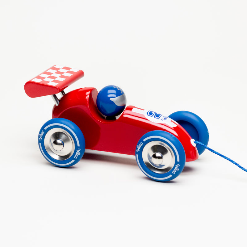 Pull Along Racing Car (Red & Blue)