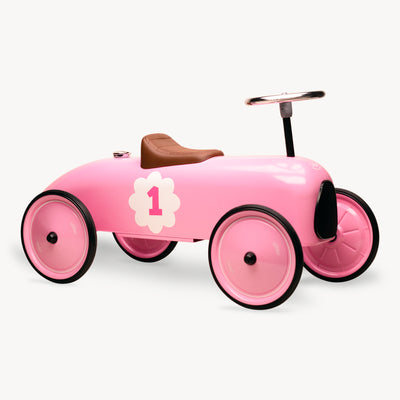 Vintage Ride-On Metal Car (Pink)